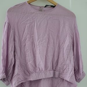 ZARA purple flowy top Medium